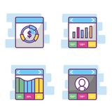 Fintech industry design. Icon set of fintech industry technology and money theme Vector illustration Stock Photography