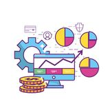 Fintech industry design. Icon set of fintech industry technology and money theme Vector illustration Stock Photo