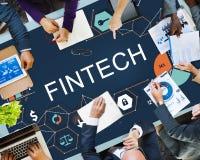 Fintech-Investitions-Finanzinternet-Technologie-Konzept lizenzfreie stockbilder