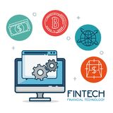 Fintech Investment Financial Internet Technology Concept fintech. Industry vector illustration graphic design Royalty Free Stock Photography