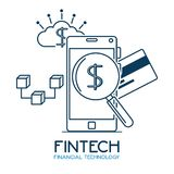Fintech Investment Financial Internet Technology Concept fintech. Industry vector illustration graphic design Stock Image