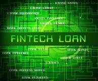 Fintech pożyczki P2p finanse kredyta 2d ilustracja ilustracja wektor
