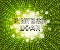 Fintech pożyczki P2p finanse kredyta 2d ilustracja ilustracji