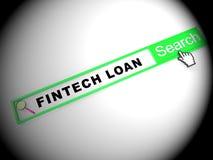 Fintech pożyczki P2p finanse kredyta 2d ilustracja royalty ilustracja