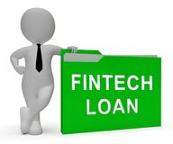 Fintech pożyczki P2p finanse kredyta 3d rendering royalty ilustracja