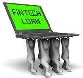 Fintech pożyczki P2p finanse kredyta 3d rendering ilustracji