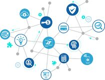 Fintech pojęcie: nowatorskie pieniężne usługa/nowa technologia w finansowym †'wektorowa ilustracja