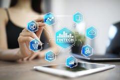 Fintech - technologie financière numérique r photo stock