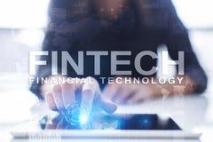 Fintech - technologie financière numérique r photographie stock