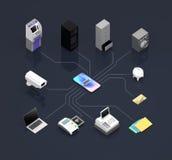 Fintech technology concept Stock Photography