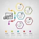 Fintech timeline infographics Stock Photo
