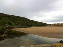 Fintra estuary. Fintra beach, Kilcar, Co Donegal, Ireland Stock Photo