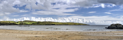 Fintra strand Arkivbild