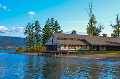 Fintry Provincial Park Packing House. The Packing House at Fintry Provincial Park beside Okanagan Lake on a sunny autumn day Stock Photography