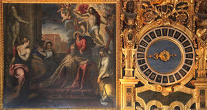Fintslott i Venedig, råds målningarna för kammare, Venedig Arkivfoto