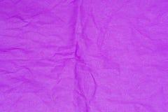 Fiołek marszcząca tkankowego papieru tła tekstura Zdjęcie Royalty Free