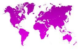 Fiołkowa Światowa mapa - wektor ilustracja wektor