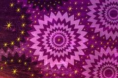 Fiołkowa tekstura i gwiazdy Abstrakcjonistyczny tło temped