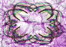 Fiołkowego abstrakcjonistycznego ornamentu płatka śniegu tekstury stubarwny ilustracyjny tło Fotografia Royalty Free