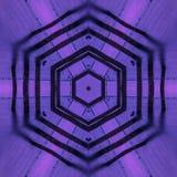 Fiołkowego sześciokąta grafiki kalejdoskopu abstrakcjonistyczna koncentryczna tapeta zdjęcia stock