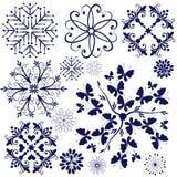 fiołkowi inkasowi płatek śniegu ilustracji