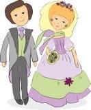 fiołkowy ślub Zdjęcie Royalty Free