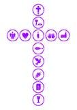 Fiołkowy chrześcijanina krzyż ilustracji