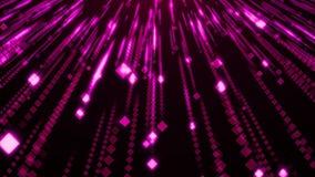 Fiołkowy cząsteczki błyskotliwości splendoru deszcz ilustracja wektor