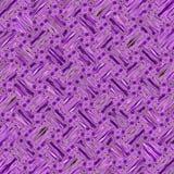 Fiołkowy diagonalny ciągły wzór z kwiecistą kwadrat mozaiką fotografia stock