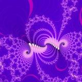 Fiołkowy fractal abstrakta tło royalty ilustracja