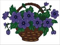Fiołkowy kwiat ilustracji