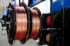 Fio de cobre brilhante Fotografia de Stock Royalty Free