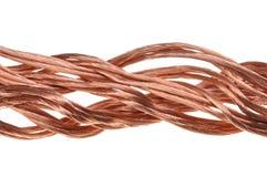 Fio de cobre, o conceito da indústria energética Fotos de Stock
