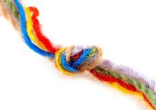 Fio de lã com nó Foto de Stock