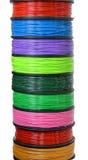 Fio do filamento para a impressora 3D Imagem de Stock Royalty Free