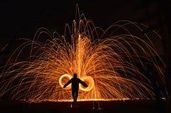Fio do fogo Imagens de Stock Royalty Free