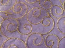 Fiołkowa organza tkaniny tekstura Zdjęcie Stock