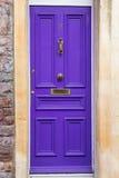 Fiołkowi drzwi zdjęcie stock