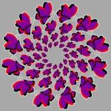 Fiołkowi motyle Ilustracji