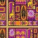Fiołkowy afrikan wzór ilustracji