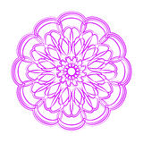 Fiołkowy kwiatu mandala ornamentu dekoracyjny rocznik Obraz Stock