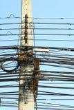 Fio no cargo da eletricidade Imagem de Stock