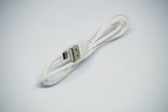 Fio USB no fundo branco Foto de Stock