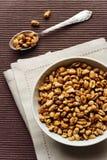 Fiocchi del cioccolato del frumento, prima colazione di salute Fotografia Stock Libera da Diritti
