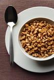 Fiocchi del frumento, prima colazione sana Immagini Stock Libere da Diritti