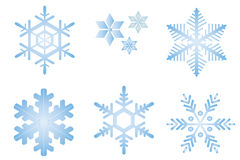 Fiocchi della neve Immagini Stock