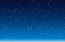 Fiocchi della neve che cadono contro il vettore blu del fondo Fotografie Stock Libere da Diritti
