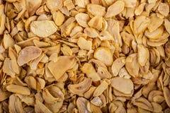 Fiocchi di aglio disidratato Fotografia Stock Libera da Diritti