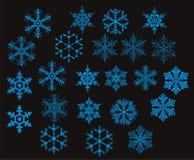 Fiocchi di neve -   Fotografie Stock Libere da Diritti