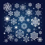 Fiocchi di neve Immagine Stock Libera da Diritti